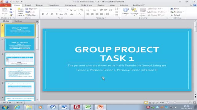Group Project Task 1 - 28-Sept-17